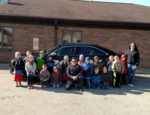 Sergeant Carlos Jasso with the Methodist Church Children